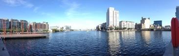 The rejuvinated docks area in Dublin