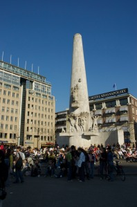 The War Memorial on Dam Square in Amsterdam