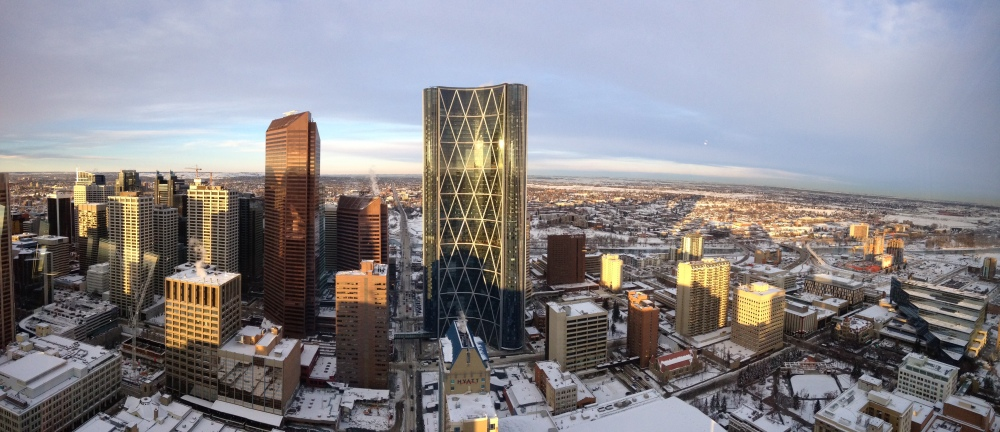 A view of Calgary from above.