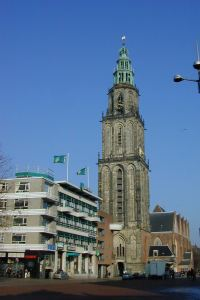 De Martinitoren (d' Olle Grieze - the Old Gray) on Market Square in Groningen.