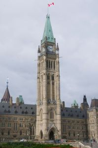 The houses of Parliament on Parliament Hill in Ottawa