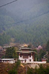 A Dhagpo Kagyu monastery near Jakar in Bhutan