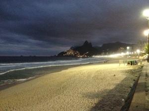 The beautiful Ipanema beach in Rio de Janeiro