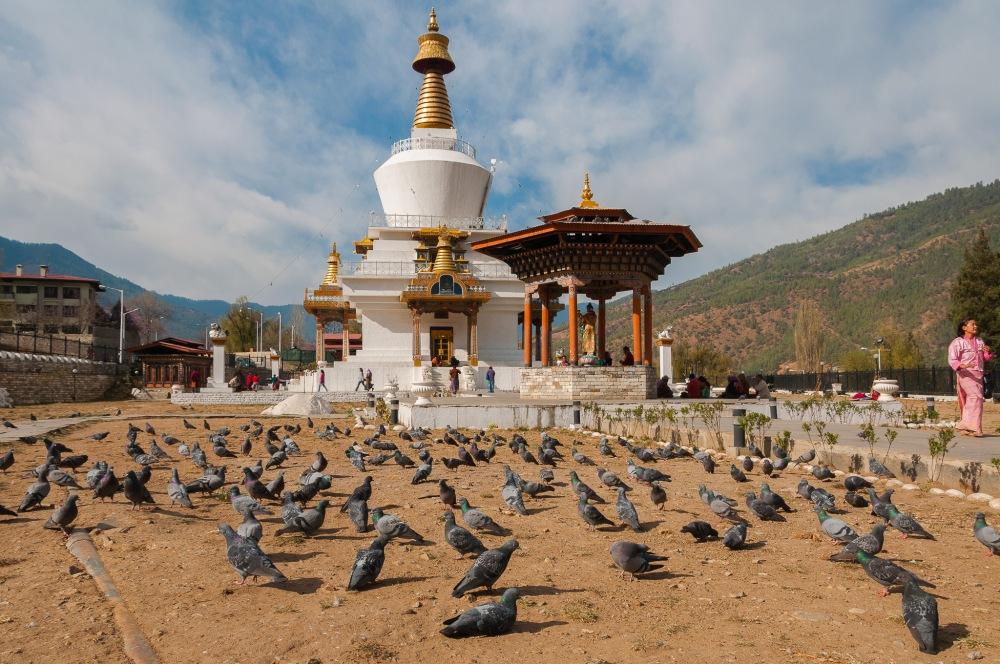 The Memorial Stūpa (Sanskrit: स्तूप; Tib: Chorten - མཆོད་རྟེན་ ) for the 3rd King of Bhutan.