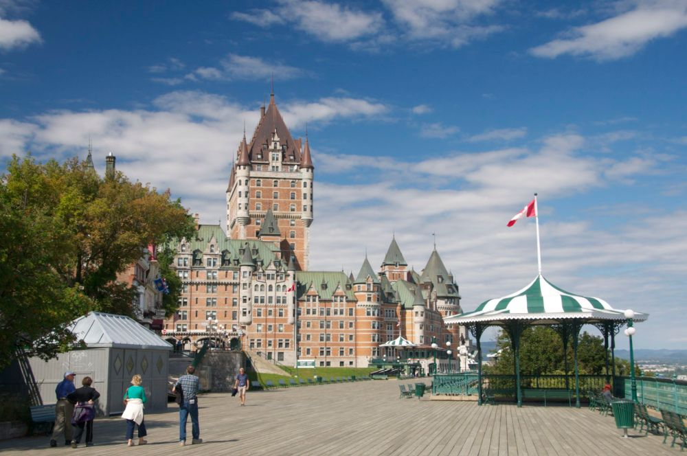Grand Hotel Château Frontenac build during the late 19th and early 20th century on the  Promenade des Gouverneurs