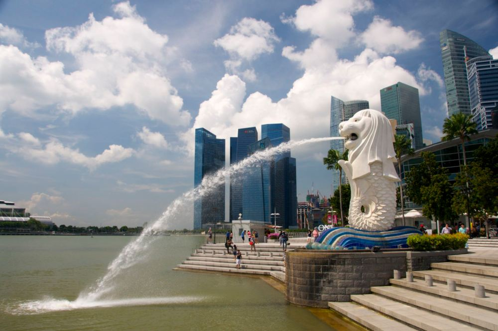 The Merlion has been standing near the Singapore CBD since 2002