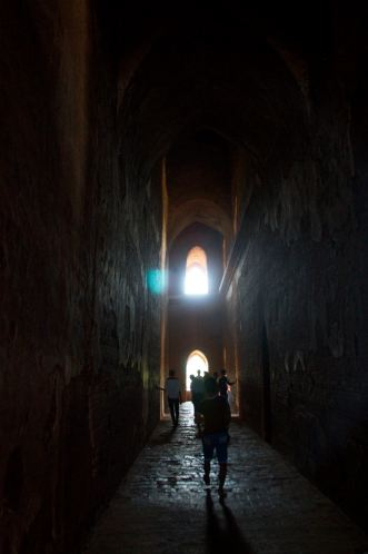 Inside a temple in Bagan