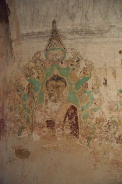Wall painting in Bagan