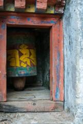 Prayer Wheel near the Tiger's Nest in Bhutan