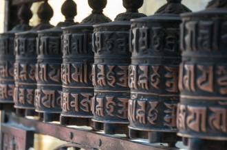 Prayer Wheels at Svayambhu Stupa