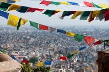 Prayer flags at Svayambhu Stupa
