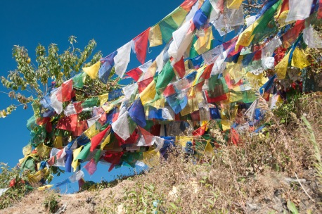 Prayer flags at Pharping