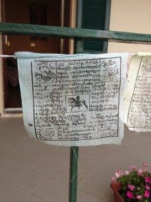 White prayer flag
