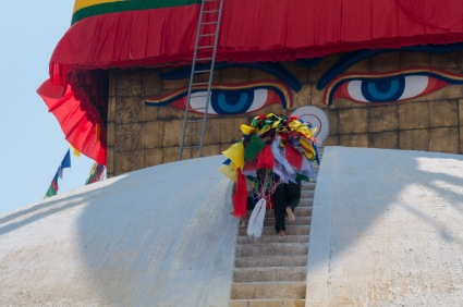 New flags for Boudha Stupa